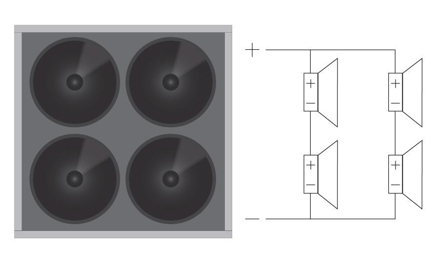 Neljällä elementillä tehonkesto nelinkertaistuu ja kannattaa siirtyä isompaan vahvistimeen.