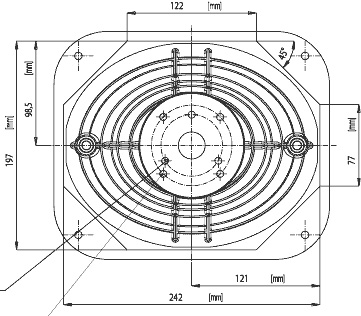 XT1086-torvelle on helpompaa sahata kahdeksankulmainen kuin soikea reikä. Sijoita torvi niin, että sen laippa on kaksi senttiä kotelon yläreunasta ja sivuista. Bassolle sopiva paikka on niin lähellä torvea kuin mahdollista, mutta käytännössä torven ja basson laippojen väliin kannattaa jättää sentti tilaa.