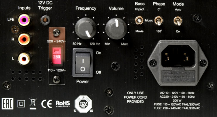 monitor audio bronze w10 saadot ja liitannat 9575
